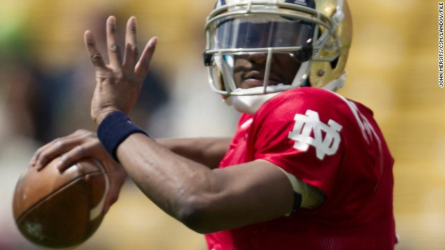 """I take full responsibility for my poor choices"" suspended Notre Dame quarterback Everett Golson said in a statement."