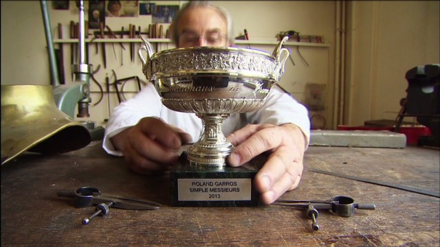 French Open winners get replica trophy