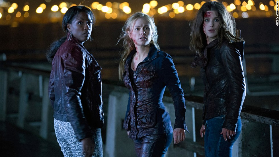 "Rutina Wesley, Anna Paquin and Lucy Griffiths star in HBO's ""True Blood."""