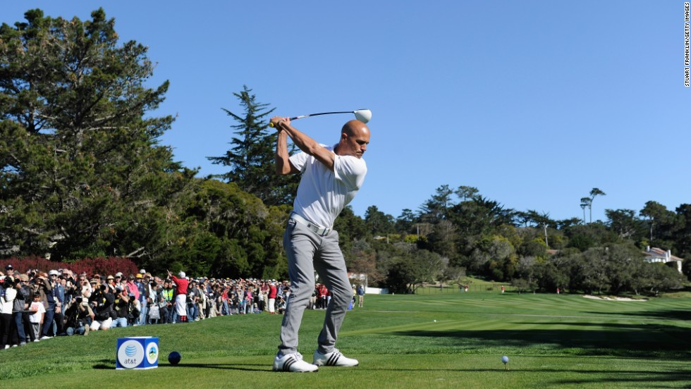 Slater is also a golf enthusiast. He is pictured at the 3M Celebrity Challenge in Pebble Beach, California, in February 2011.