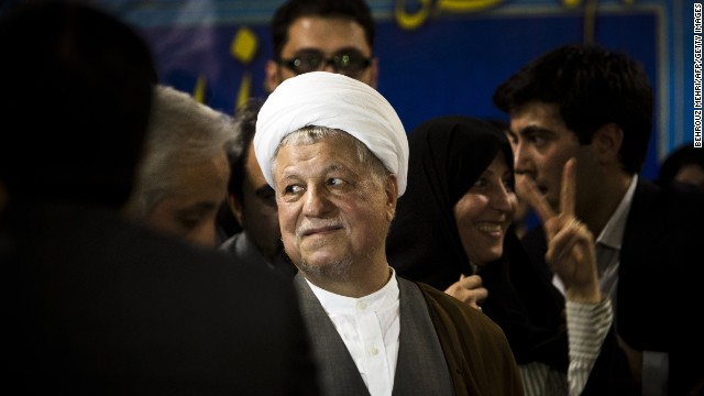 Former Iranian president Akbar Hashemi Rafsanjani registers his candidacy in Tehran on May 11, 2013.