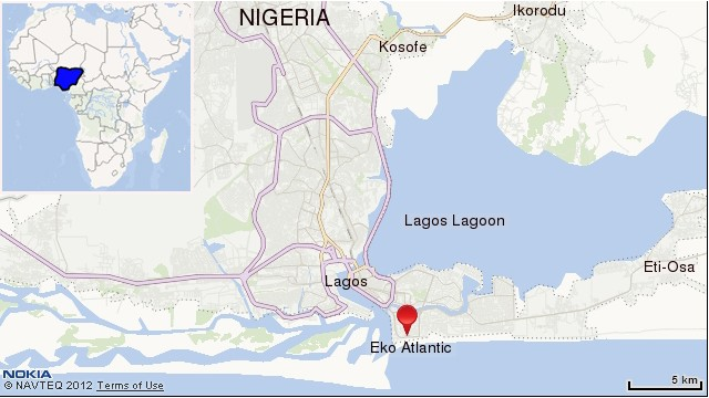 EKO Atlantic map. Click to expand
