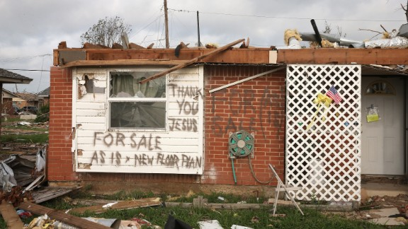 A message is left by a homeowner who lost his home in the May 20 tornado on Monday, May 27, in Moore, Oklahoma.  View more photos of the aftermath in the region and another gallery of aerial shots of the damage.
