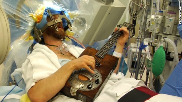Man rocks out during brain surgery
