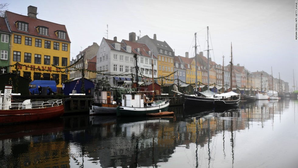 "A general view of a canal in the Nyhaven area of  Copenhagen in 2009. Denmark is the world's happiest nation, according to the <a href=""http://unsdsn.org/wp-content/uploads/2014/02/WorldHappinessReport2013_online.pdf"" target=""_blank"">2013 World Happiness Report</a> from Columbia University's Earth Institute. The report was issued in September."