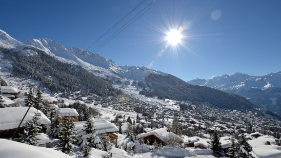 A  view of Verbier, Switzerland, in February.