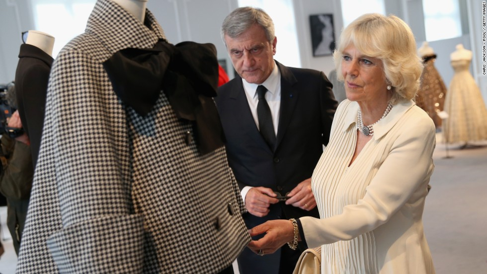 "Camilla visits the headquarters of luxury fashion brand Christian Dior. A Clarence House spokeswoman said the duchess was ""delighted to accept as she was keen to highlight the wonderful skill and craftsmanship involved in this renowned french fashion house."""