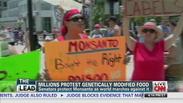 Protests over genetically modified food