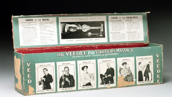 """According to the museum website, the """"Veedee"""" vibratory massager claimed to cure colds, digestive complaints and flatulence. It is believed that the name is a pun on the Latin phrase """"veni vidi vici"""" (I came, I saw, I conquered)."""