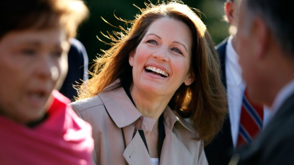 Bachmann joins fellow House Republicans at a December 2009 news conference outside the U.S. Supreme Court to blast Attorney General Eric Holder
