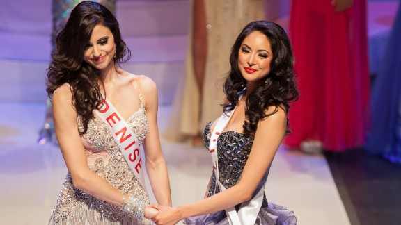Denise Garrido, left, was crowned Miss Universe Canada in May 2013, but the committee gave the title to Riza Santos 24 hours later, saying it had made a mistake.