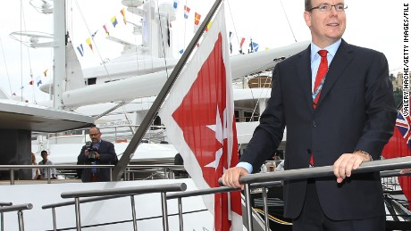 Prince Albert II of Monaco visits the International Monaco Yacht Show on September 24, 2010 at Port Hercules in the principalty of Monaco. A selection of 100 exceptional super and mega-yachts from 25 to over 90 m long is presented until September 25, 2010.