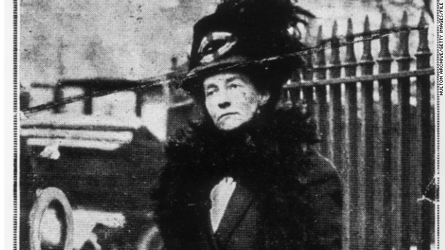May 1913: Emily Davison (1872 - 1913) a few days before her fatal attempt to stop the King's horse 'Amner' on Derby Day to draw attention to the Women's Suffragette movement. (Photo by Hulton Archive/Getty Images)