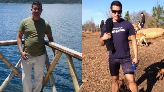 """Marcelo Cedeno lost more than 50 pounds after a friend told him he was """"unconciously hurting himself"""" with his unhealthy eating habits. Cedeno started working out for an hour a day and made smarter food choices to drop the weight."""
