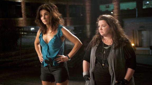 "Sandra Bullock stars as Special Agent Sarah Ashburn and Melissa McCarthy stars as Det. Shannon Mullins in ""The Heat."""