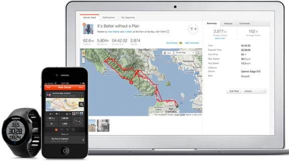 Strava connects with GPS-enabled devices such as the iPhone, Android phones, and Garmin trackers. Compare how you do on a specific segment of a road against other athletes who run or bike the same spot, create clubs and take part in challenges with friends. It