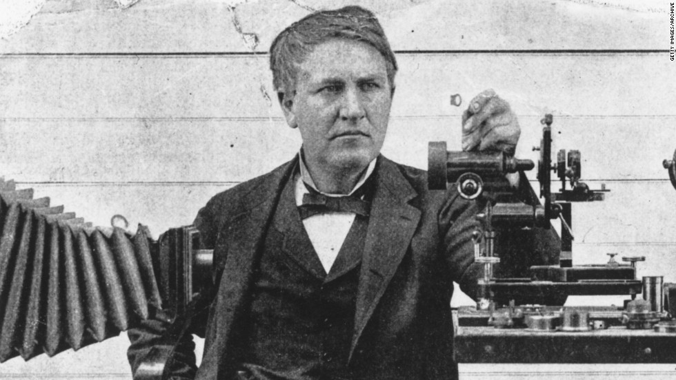 Inventor Thomas Edison and his associates are credited with a number of motion picture innovations, including the Kinetograph and Kinetoscope, forerunners of cameras and projectors.