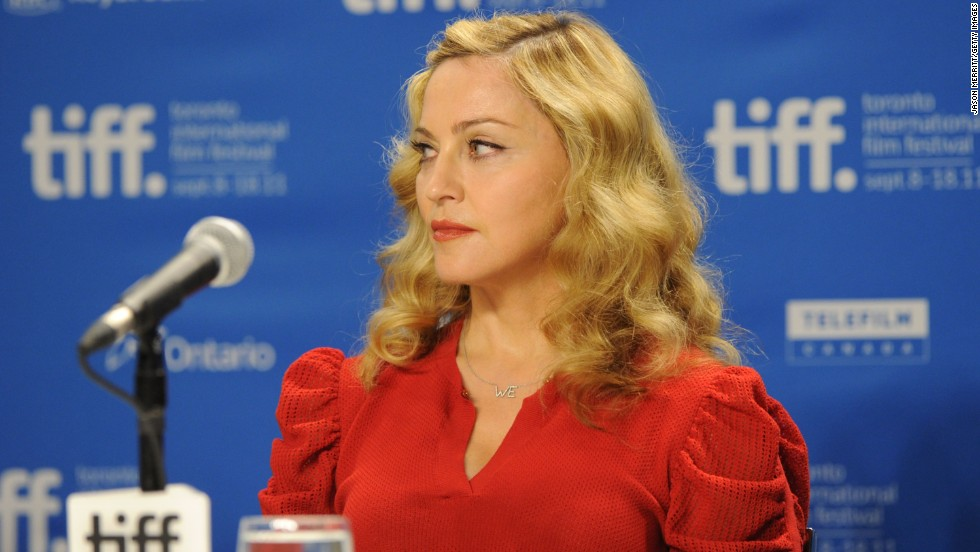 "Madonna was on her best behavior at the ""W.E."" news conference, seen here during the 2011 Toronto International Film Festival. But at the Venice Film Festival that same year, she <a href=""http://www.youtube.com/watch?v=wTiZz_Poc74"" target=""_blank"">was caught saying ""I absolutely loathe hydrangeas""</a> after a fan gave her the flowers."