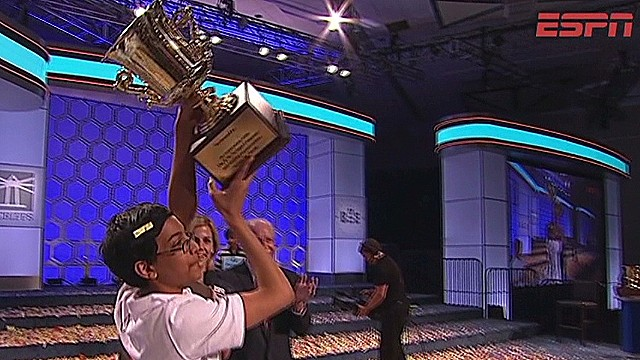 This year's spelling bee champ is