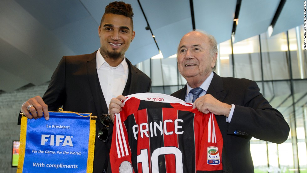 Boateng's protest caused football's authorities to step up their efforts to tackle the problem and the now Schalke player was invited to sit on a racism and discrimination task force, set up by soccer's world governing body FIFA. He also met with FIFA president Sepp Blatter.