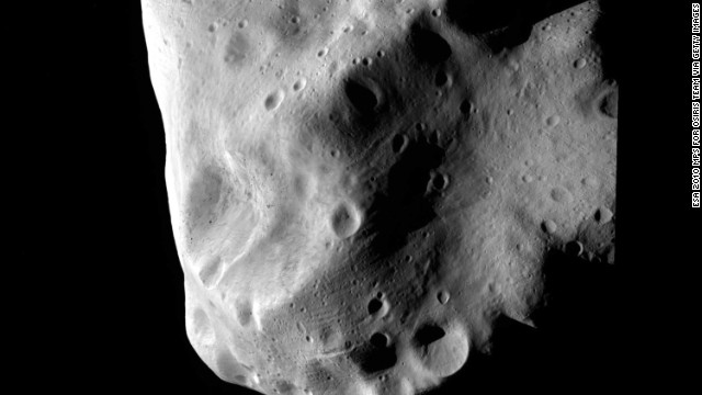his handout image provided by the European Space Agency, transmitted by the space craft Rosetta, shows the asteroid Lutetia at closest approach July 10, 2010 between Mars and Jupiter in outer space.