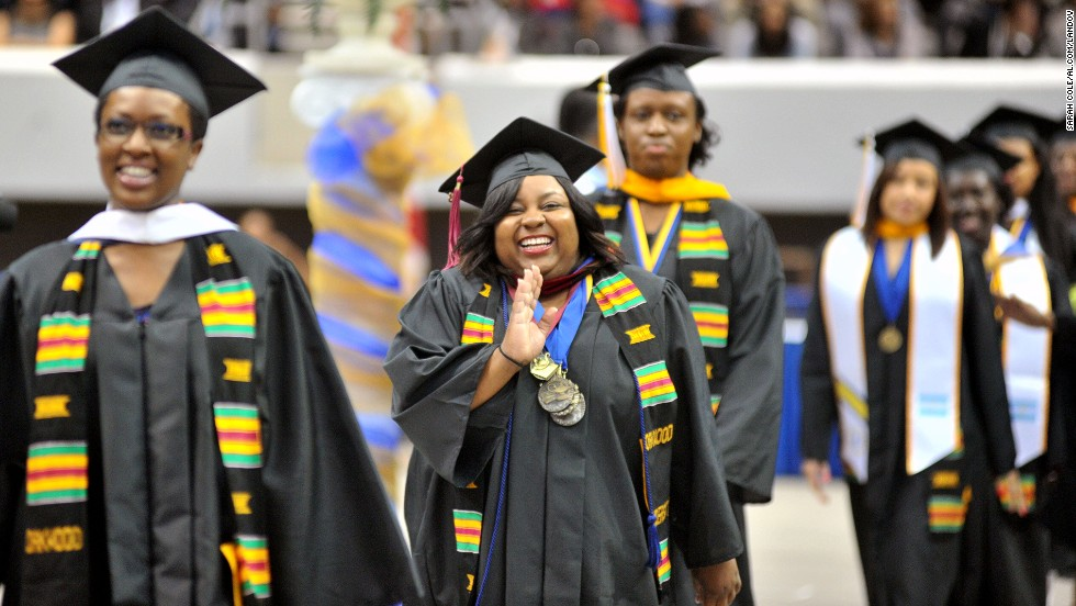 Around 350 student received diplomas at Oakwood University during the graduation ceremony at Von Braun Propst Arena in Huntsville, Alabama, on May 11. Student groups are pushing for Congress to extend the low 3.4% rate on subsidized loans another year to give lawmakers more time to work a long-term fix.