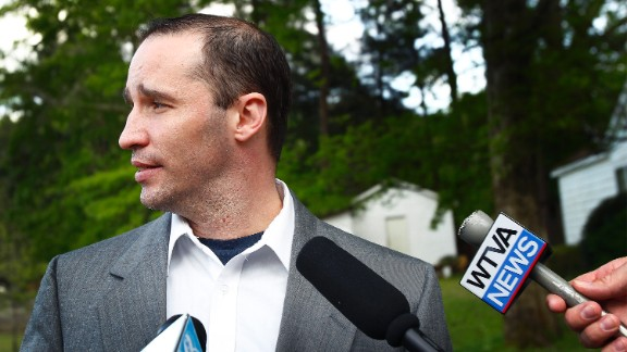 James Everett Dutschke speaks with the media as federal authorities search his Tupelo, Mississippi, home on April 23, in connection with several suspected ricin incidents.  Dutschke was later charged with possession and use of a biological agent in connection with a ricin-tainted letter sent to Sadie Holland, a judge in Lee County, Mississippi.