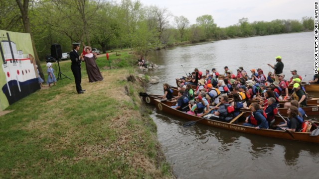 """With the Future on the Line"" plays out for an audience in canoes, which paddles from scene to scene on the Minnesota River."