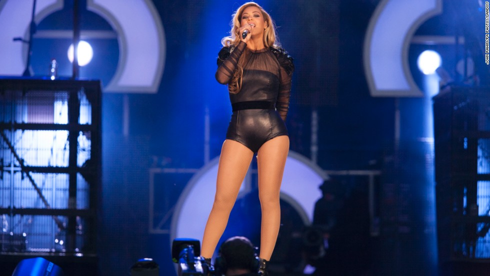 "Beyoncé performs live during the Sound for Change concert at Twickenham Stadium in Surrey, England, on Saturday, June 1. The concert was sponsored by Chime for Change, an organization founded by Gucci, ""working to promote education, health and justice for every girl, every woman, everywhere.""  Beyoncé was the main attraction at the concert and is a member of the organization's founding committee."