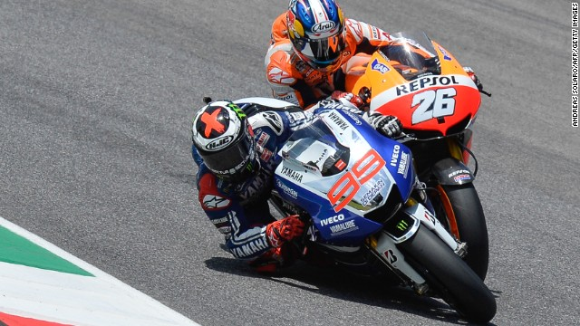 Yamaha's Jorge Lorenzo won the Italian MotoGP ahead of fellow Spaniard Dani Pedrosa of Honda.