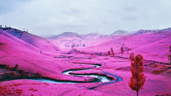 Artist Richard Mosse is well known for his infrared images of eastern Democratic Republic of Congo.