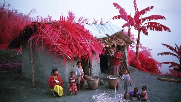 A Tembo family at home, Busurungi, Walikale, North Kivu.