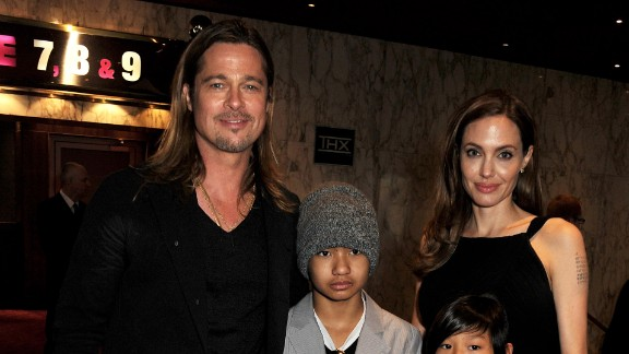 """Now 9, Pax was spotted out with his parents and older brother, Maddox, at his dad Pitt's """"World War Z"""" movie premiere in London on June 2, 2013."""