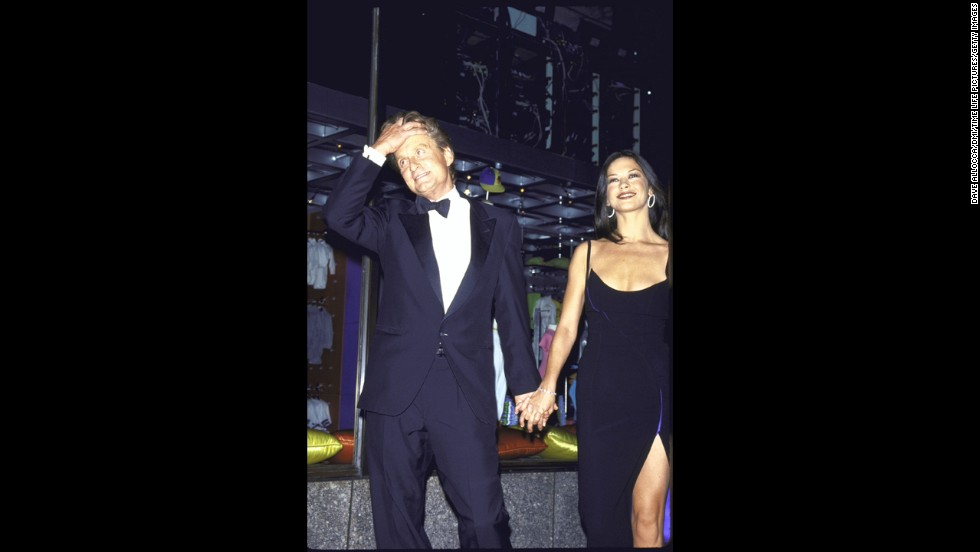 "Douglas and Catherine Zeta-Jones attend an anniversary party for ""Saturday Night Live"" in 1999. On November 18, 2000, the couple married."