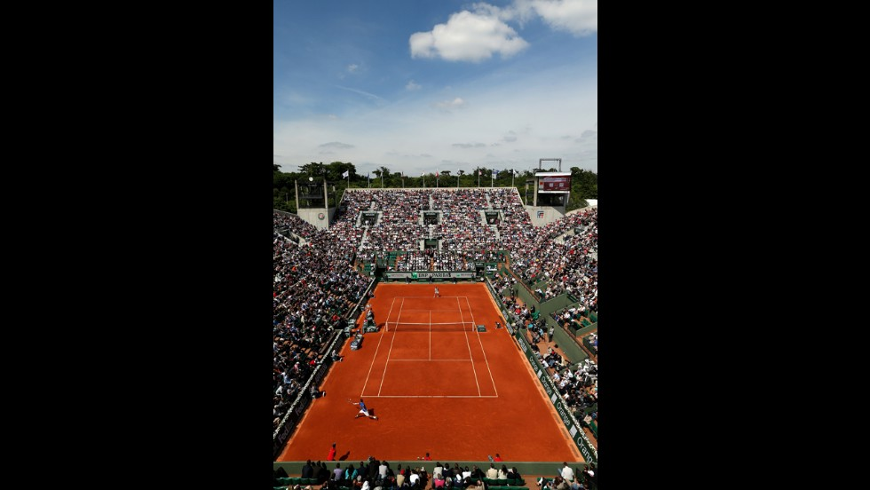 Sunny skies continue on the ninth day of the French Open at Roland Garros on June 3 in Paris.