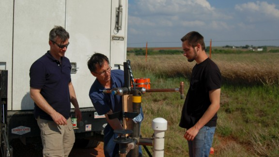 "From left, Carl Young, Tim Samaras and his son Paul Samaras were killed Friday, May 31, while following a tornado in El Reno, Oklahoma, relatives told CNN on Sunday. Their work tracking tornadoes was featured on the former Discovery Channel show ""Storm Chasers."""