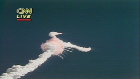 1986: Space Shuttle Challenger explosion