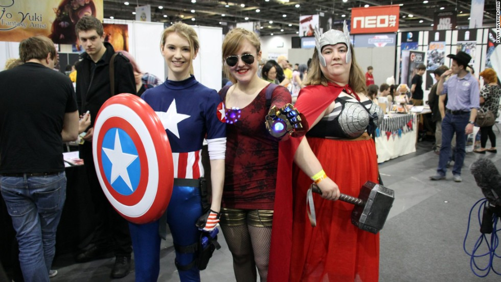 At the recent London Comic Con, fans, like Sky (left) stated it was time the industry branched out to include more original female characters.