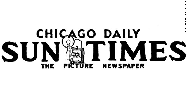"The Sun Times called itself ""The Picture Newspaper"" in this old nameplate with the image of a camera on it."