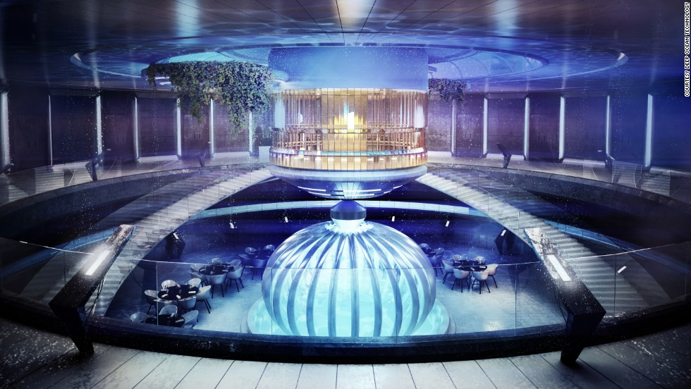 """The biggest challenge is to sink the hotel,"" said designer Pawel Podwojewski. ""In this case, we'll take care of the construction, which means the underwater hotel will be completed in Poland and shipped to Maldives."""