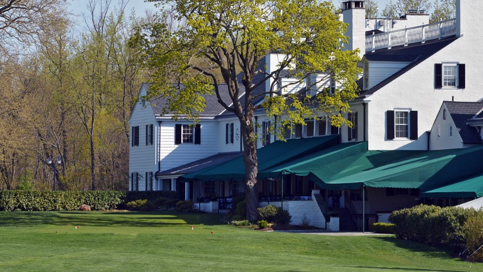 Players will tee off at the U.S. Open right in front of the dining patio in the clubhouse.