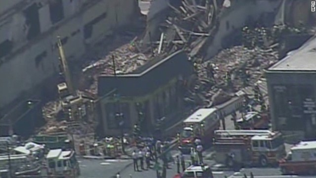 Witness: Building rubble like a war zone