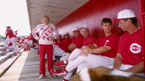 """Cincinnati Reds owner Marge Schott faced lawsuits, fines from the MLB and suspensions during her career for her offhand comments and actions. Schott told ESPN in 1996 that """"Hitler was good in the beginning, but he went too far."""" That comment drew a $25,000 fine and one-year suspension."""