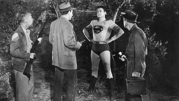 """Reeves continues to play Superman in the 1950s syndicated television series """"Adventures of Superman."""""""