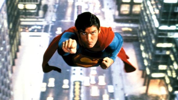"""Christopher Reeve takes the title role in the 1978 movie """"Superman."""""""