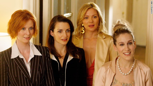 "The cast of HBO's ""Sex and the City."""
