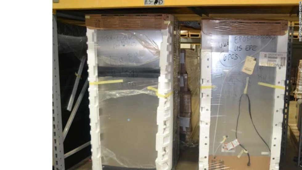 The report also alleges that valuable inventory was going unused, like these unopened refrigerators recieved in 2007 in original wrapping.
