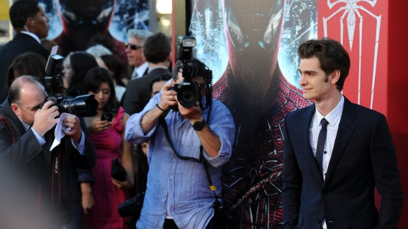 """As if three movies full of Spider-Man weren't enough, yet another incarnation of Spidey's Spandex popped up. Actor Andrew Garfield is shown here at the premiere of """"The Amazing Spider-Man"""" in Los Angeles in June 2012."""