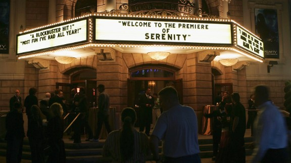 """Shown here is the September 2005 premiere of """"Serenity"""" at Universal Studios in Los Angeles, California. The film was based upon the much-beloved """"Firefly"""" series, which is often labeled a """"space western"""" for its incorporation of elements from science fiction and Western genres. It received an Emmy Award for Outstanding Special Visual Effects for a Series in 2003. The series first launched in 2002, but lasted only a short time."""