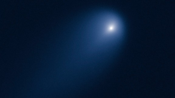 The Hubble Space Telescope took this picture of Comet ISON on April 10, 2013, when the comet was slightly closer than Jupiter